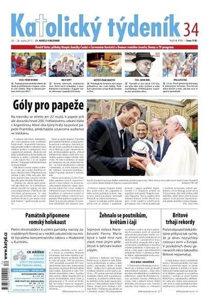 Katolický týdeník - 34/2013 - Elektronické noviny