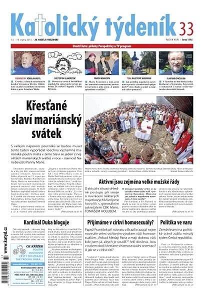 Katolický týdeník - 33/2013 - Elektronické noviny