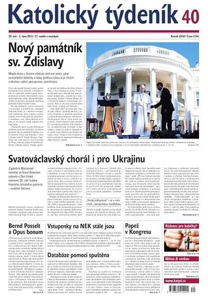 Katolický týdeník - 40/2015 - Electronic Newspaper