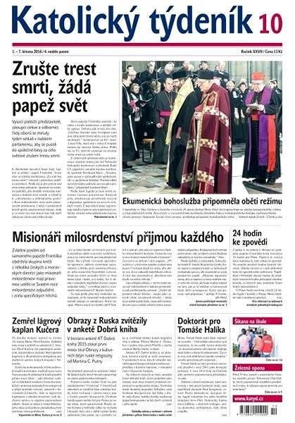 Katolický týdeník - 10/2016 - Elektronické noviny