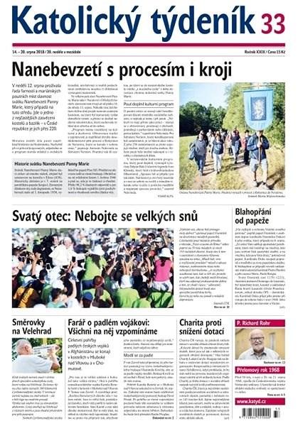 Katolický týdeník - 33/2018 - Elektronické noviny