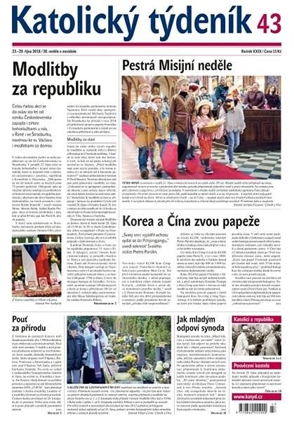Katolický týdeník - 43/2018 - Elektronické noviny