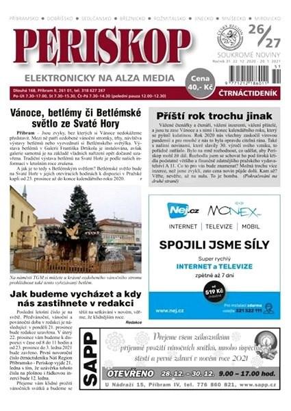 Periskop - číslo 26-27 - 12/2020<br>dále vychází jako Náš REGION Příbram<br/> - Elektronické noviny
