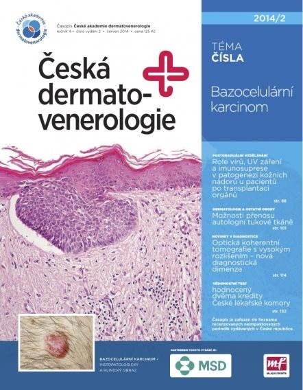 Česká dermatovenerologie - 2/2014 - Elektronický časopis