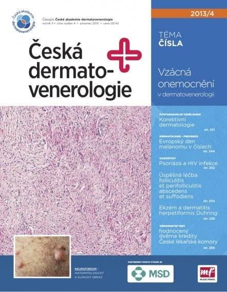 Česká dermatovenerologie - 04/13 - Elektronický časopis
