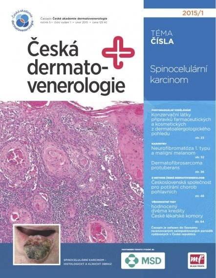 Česká dermatovenerologie - 1/2015 - Elektronický časopis