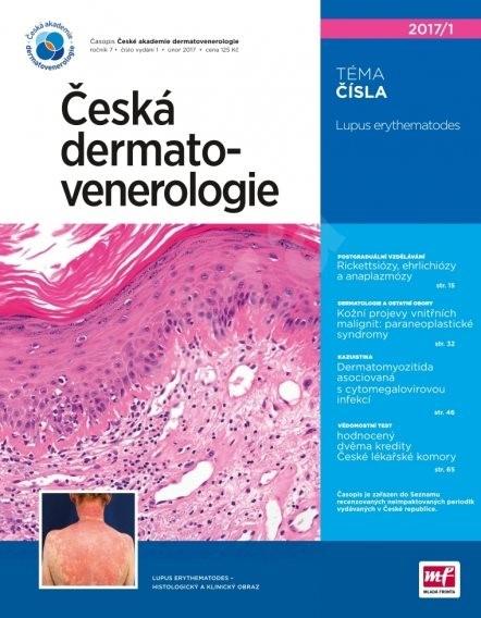 Česká dermatovenerologie - 1/2017 - Elektronický časopis