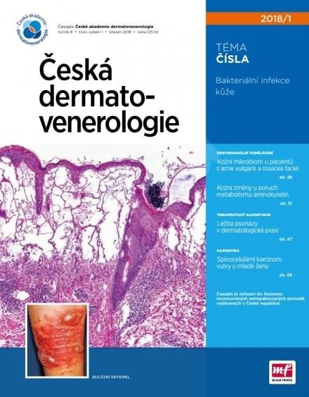 Česká dermatovenerologie - 1/2018 - Elektronický časopis