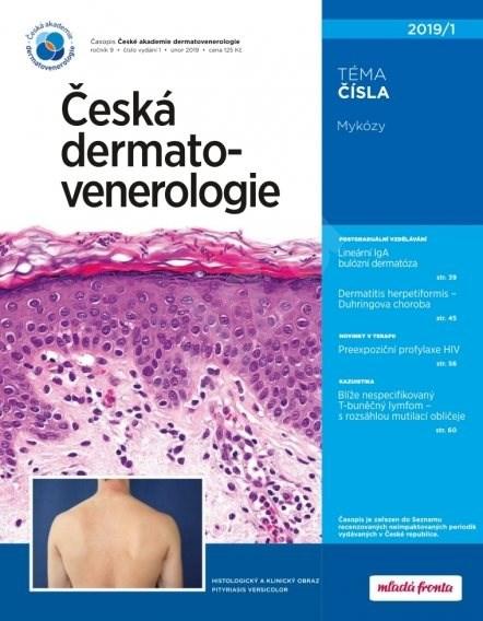 Česká dermatovenerologie - 01/2019 - Elektronický časopis