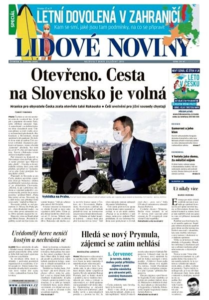 Lidové noviny - 04.06.2020 - Elektronické noviny