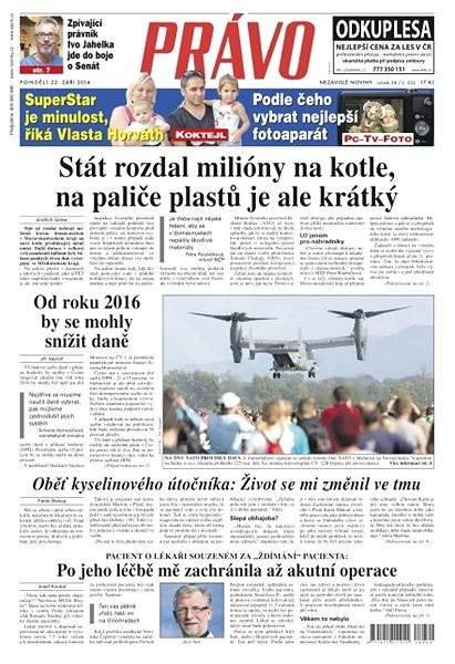 Právo - 22-09-2014 - Elektronické noviny