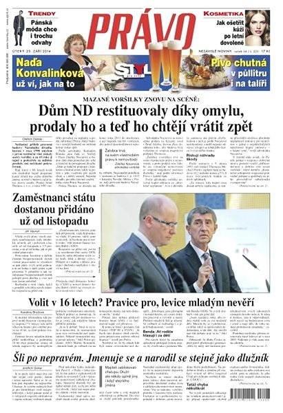 Právo - 23-09-2014 - Elektronické noviny
