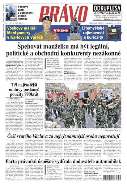 Právo - 26-09-2014 - Elektronické noviny