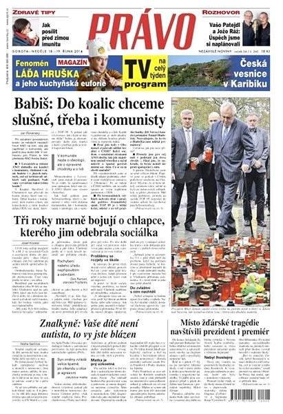 Právo - 18-10-2014 - Elektronické noviny
