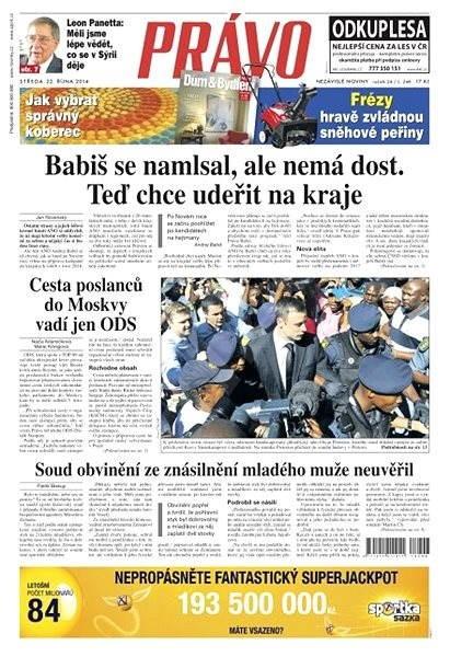 Právo - 22-10-2014 - Elektronické noviny