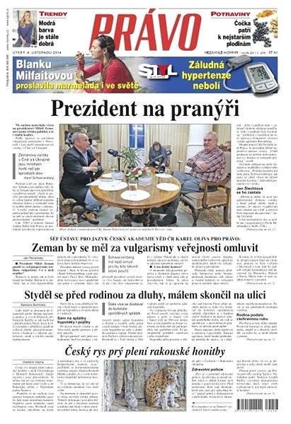Právo - 04-11-2014 - Elektronické noviny