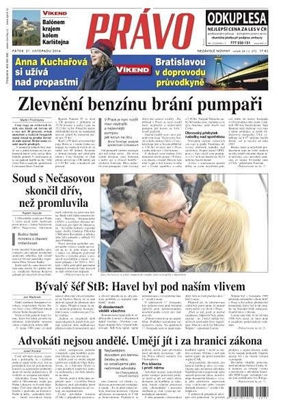 Právo - 21-11-2014 - Elektronické noviny