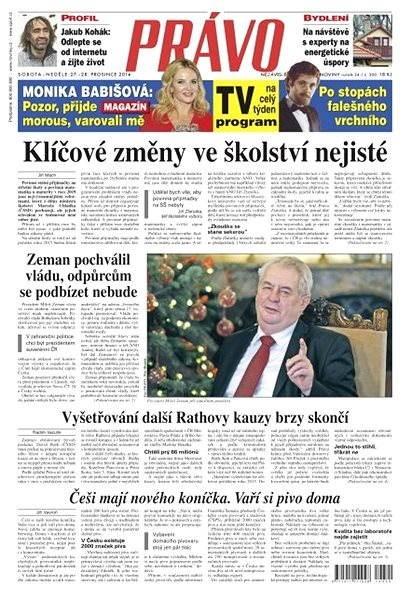 Právo - 27-12-2014 - Elektronické noviny