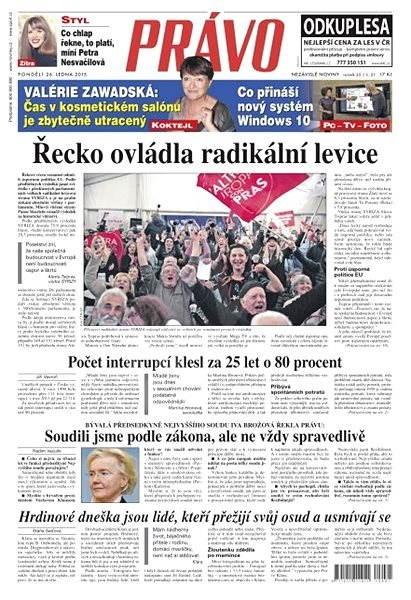 Právo - 26-01-2015 - Elektronické noviny