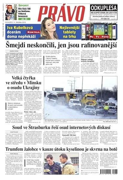 Právo - 09-02-2015 - Elektronické noviny