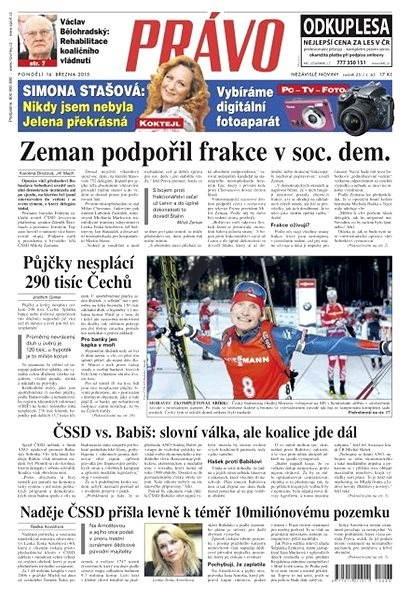 Právo - 16-03-2015 - Elektronické noviny