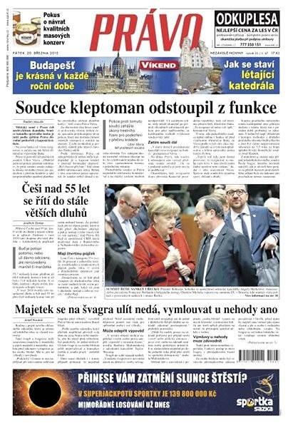 Právo - 20-03-2015 - Elektronické noviny