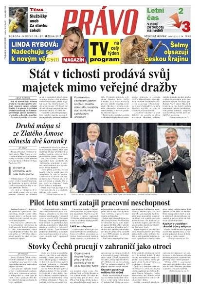 Právo - 28-03-2015 - Elektronické noviny