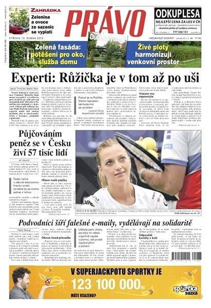 Právo - 15-04-2015 - Elektronické noviny