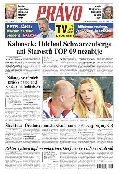 Právo - 18-04-2015 - Elektronické noviny