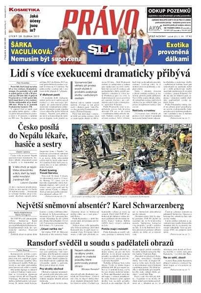 Právo - 28-04-2015 - Elektronické noviny