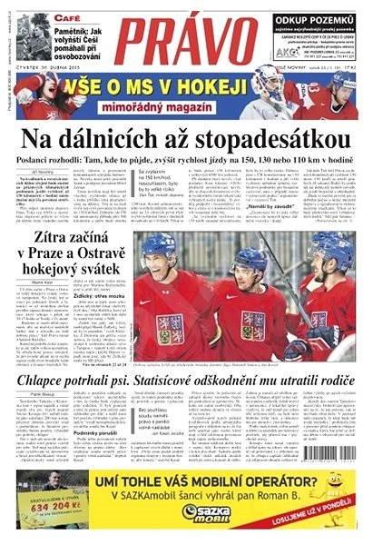 Právo - 30-04-2015 - Elektronické noviny