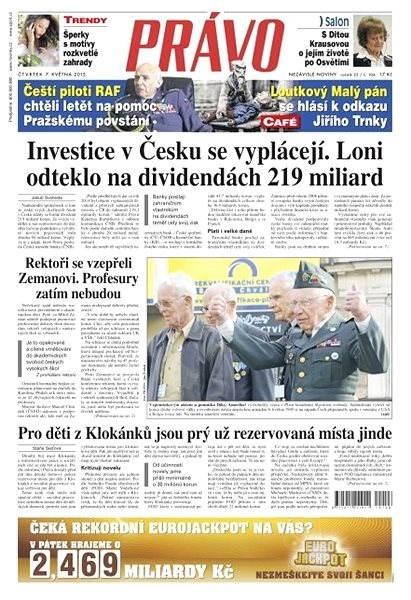Právo - 07-05-2015 - Elektronické noviny