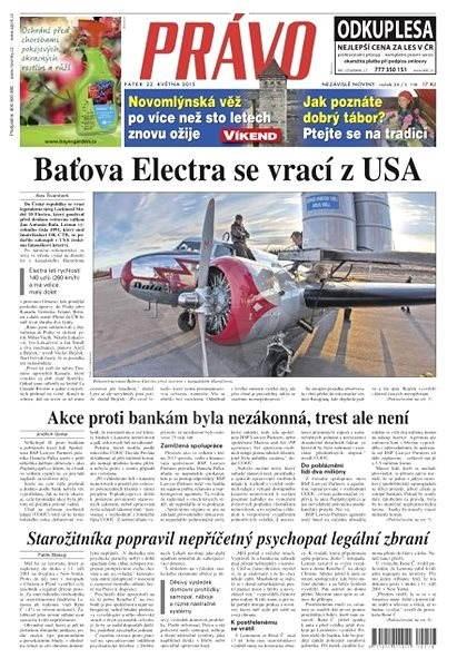 Právo - 22-05-2015 - Elektronické noviny