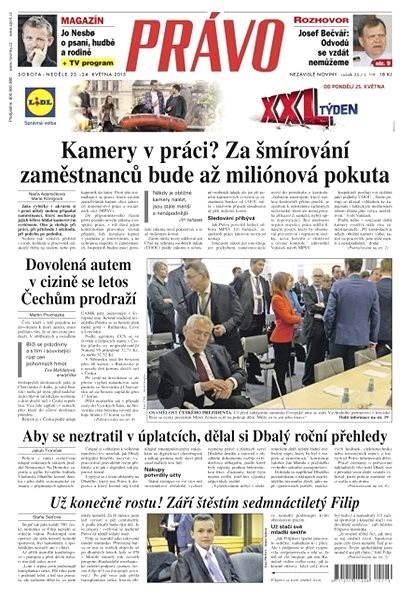 Právo - 23-05-2015 - Elektronické noviny