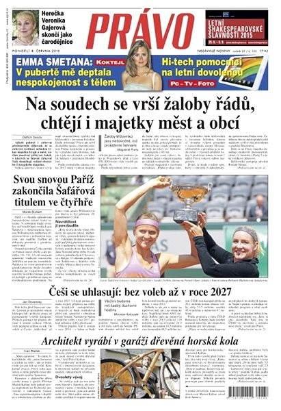 Právo - 08-06-2015 - Elektronické noviny