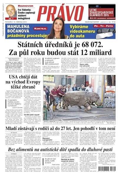Právo - 15-06-2015 - Elektronické noviny