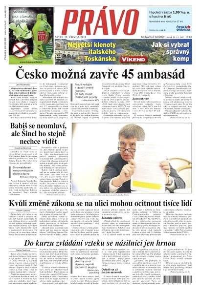 Právo - 19-06-2015 - Elektronické noviny