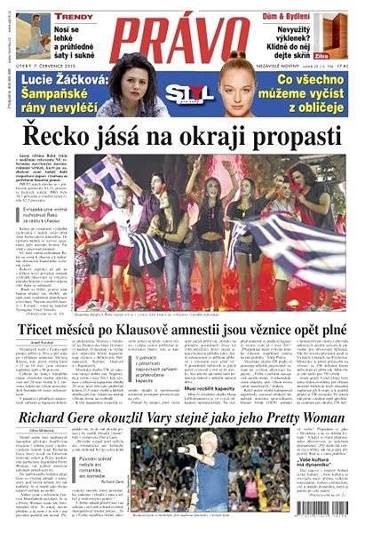 Právo - 07-07-2015 - Elektronické noviny