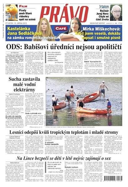 Právo - 13-08-2015 - Elektronické noviny