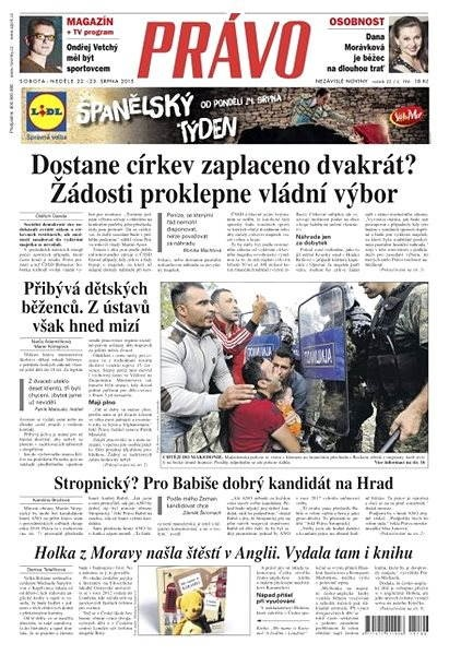 Právo - 22-08-2015 - Elektronické noviny