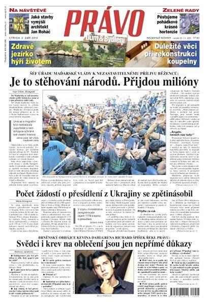 Právo - 02-09-2015 - Elektronické noviny