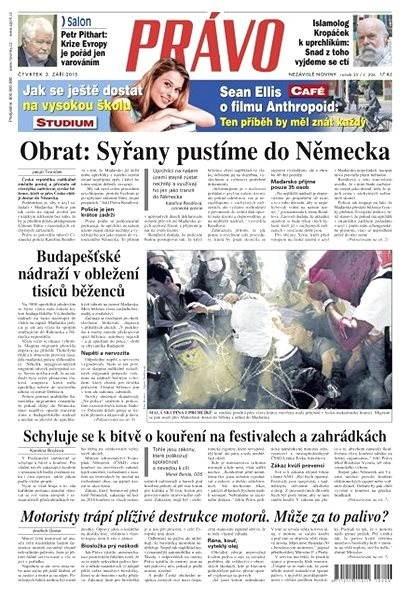 Právo - 03-09-2015 - Elektronické noviny