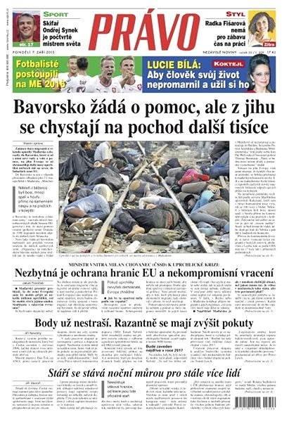 Právo - 07-09-2015 - Elektronické noviny