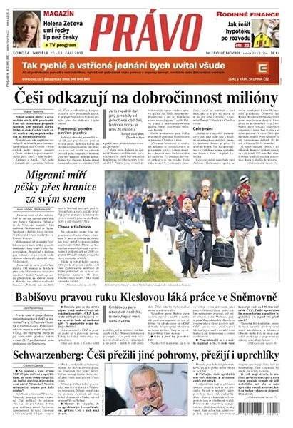 Právo - 12-09-2015 - Elektronické noviny
