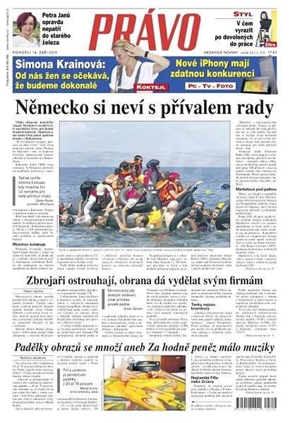 Právo - 14-09-2015 - Elektronické noviny