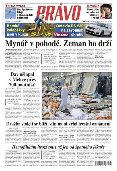 Právo - 25-09-2015 - Elektronické noviny
