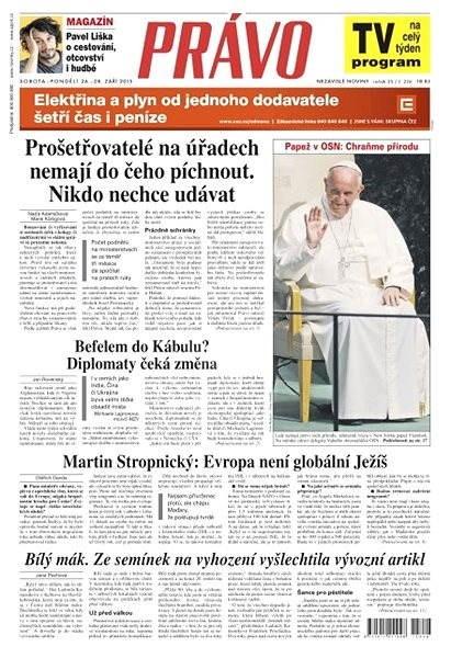 Právo - 26-09-2015 - Elektronické noviny