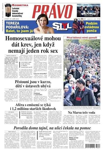 Právo - 29-09-2015 - Elektronické noviny