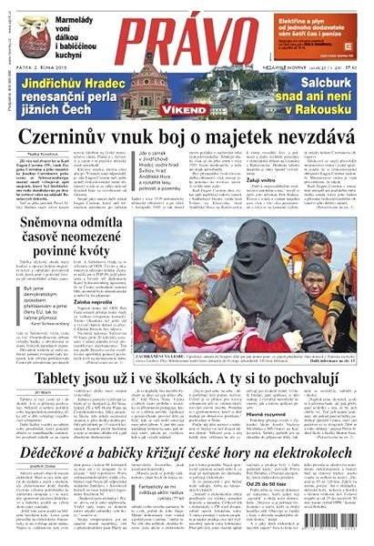 Právo - 02-10-2015 - Elektronické noviny