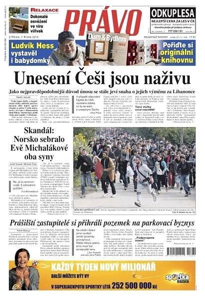 Právo - 07-10-2015 - Elektronické noviny